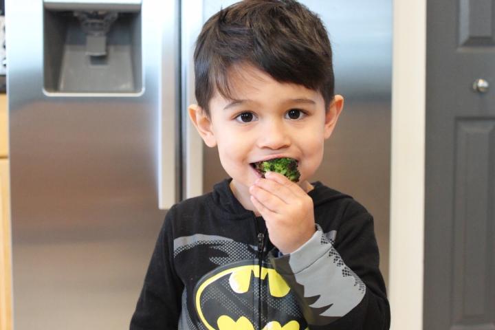 Batman loves burnt broccoli
