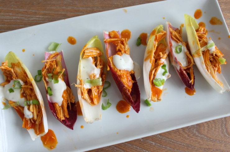 Buffalo Chicken Endive Boats